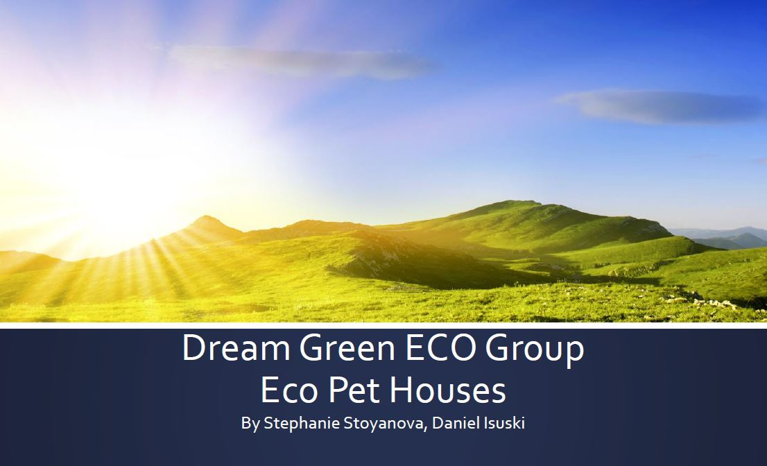 """Dream Green ECO Group – BULGARIA – In the """"Best Business Plan"""" competition"""