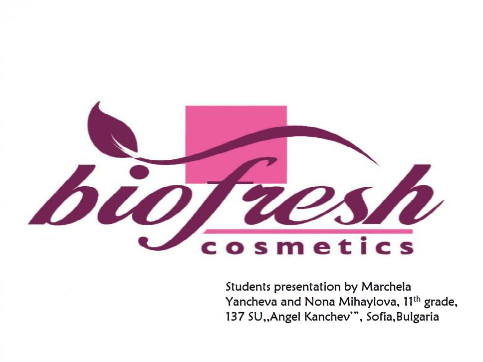 """BIO FRESH Cosmetic – BULGARIA – In the """"Best Business Plan"""" competition"""